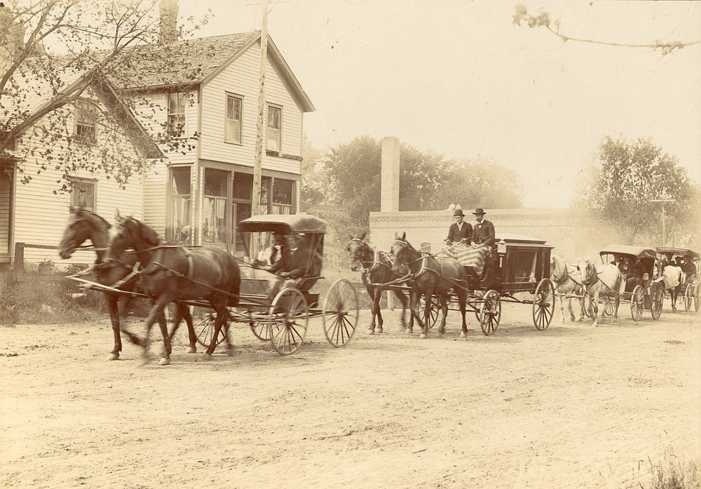 Frank Seck owned the first hearse in Watertown. 1890s  Av8205