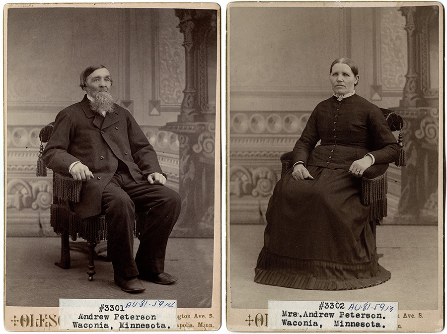 Andrew and Elsa Peterson 1880s